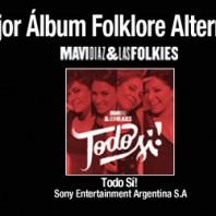 Mavi Díaz & Las Folkies ganadoras «Mejor Album Folklore Alternativo» – Premios Gardel 2016